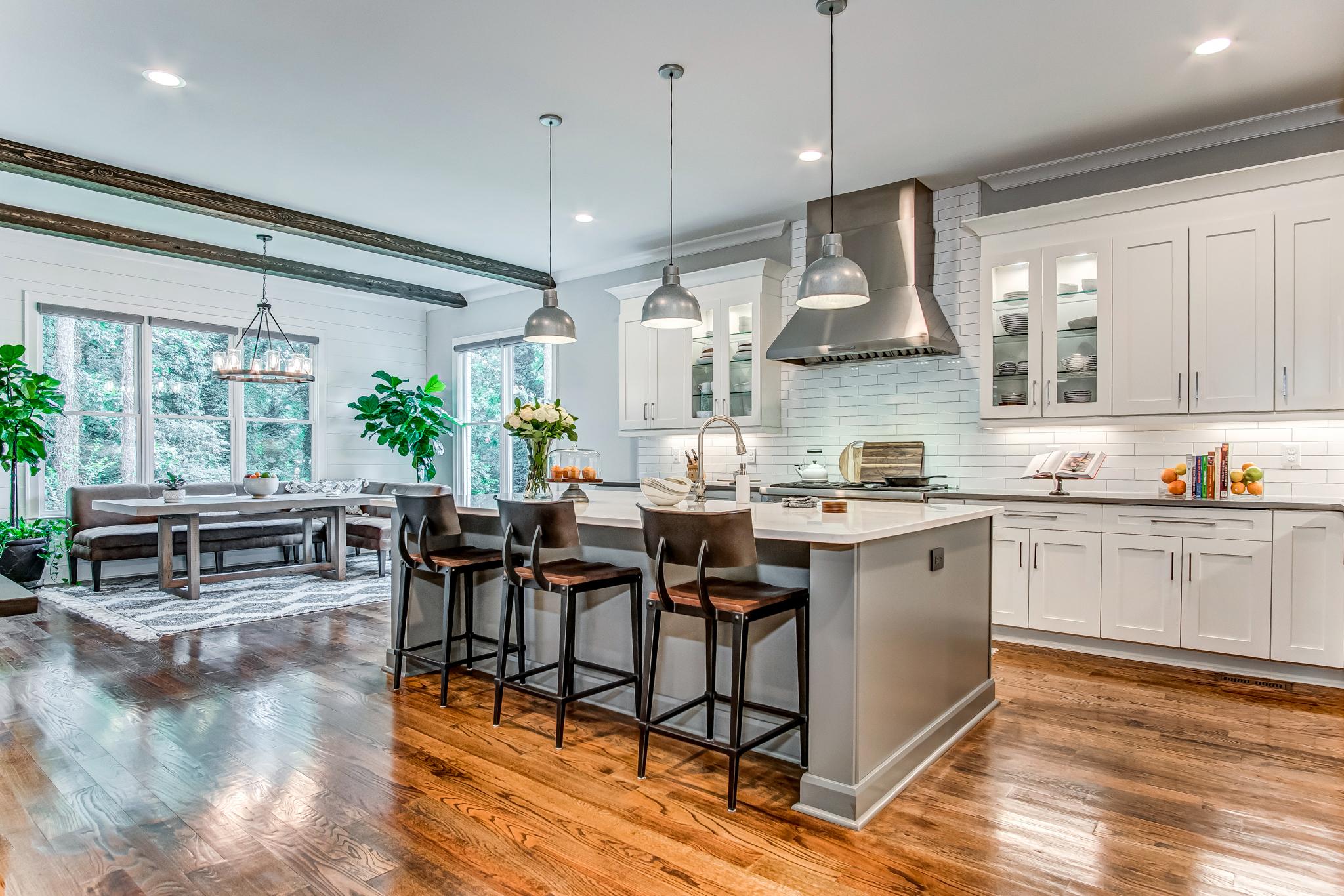 Gorgeous Atlanta, Georgia kitchen photographed by Cherokee Drone Services