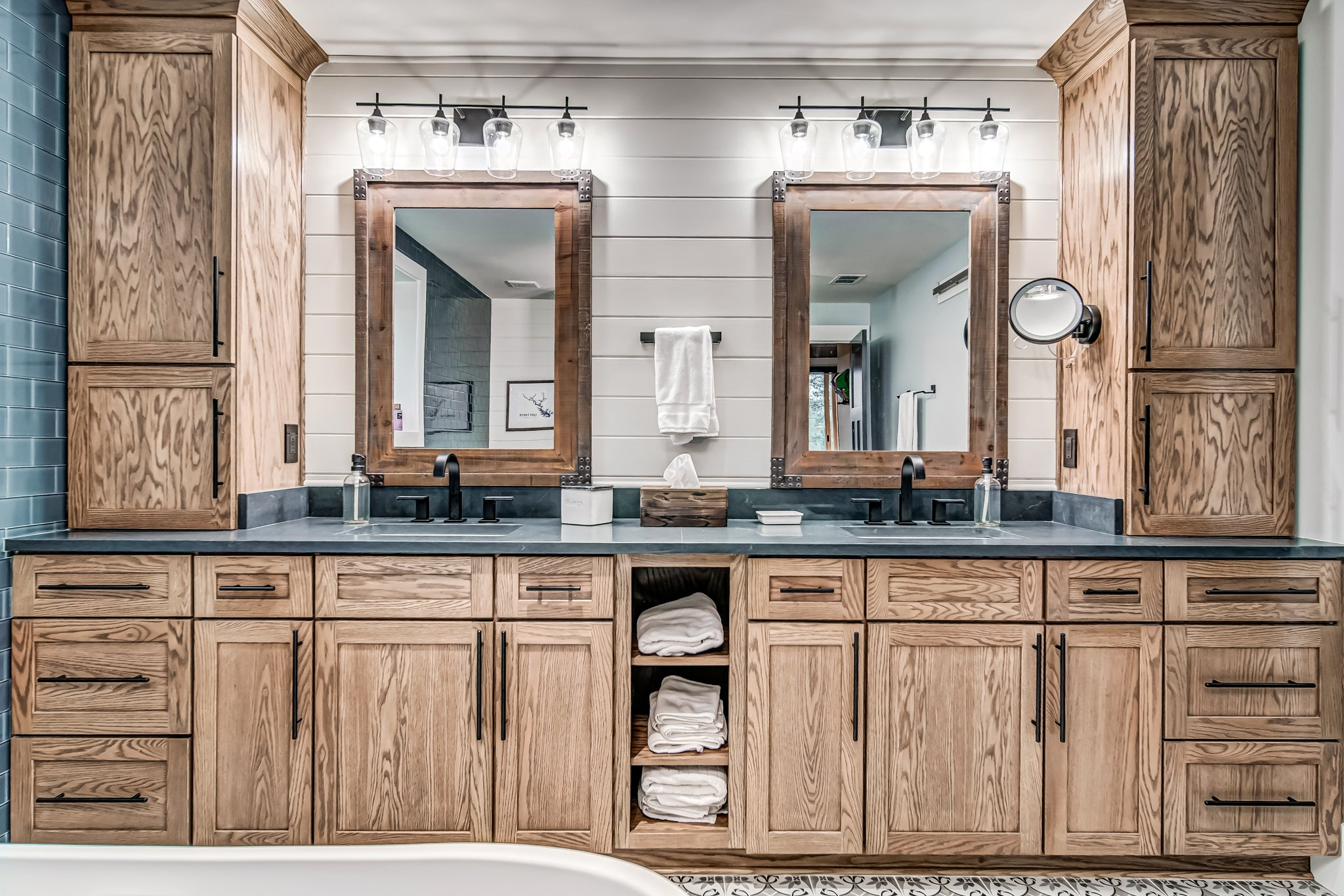 Jack and Jill bathroom photographed by real estate photographer at Cherokee Drone Services